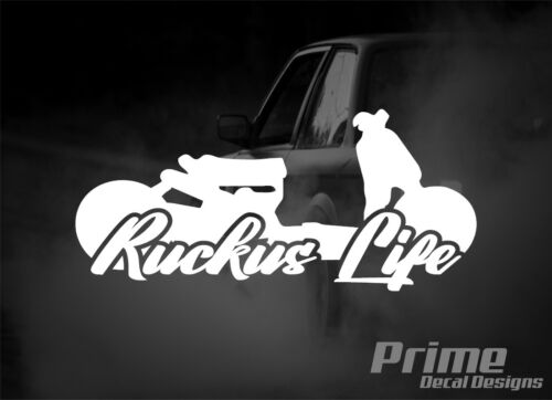 RUCKUS LIFE JDM Low Slammed Car Wall Window Vinyl Decal Sticker