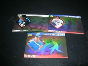 "1993 Upper Deck Diamond Gallery holograms-Sandberg, Gonzalez, Thomas ""You Pick 1"
