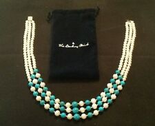 Pearl & Turquoise Cascade Necklace-Danbury Mint - FREE SHIPPING!