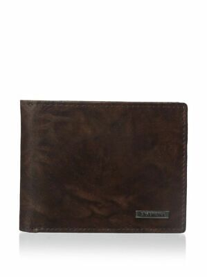 NEW STEVE MADDEN MEN/'S PREMIUM LEATHER CREDIT CARD ID WALLET BROWN N80011//01