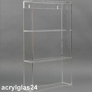 regal aus plexiglas wandregal klar acryl glasregal h ngeregal badregal ablage ebay. Black Bedroom Furniture Sets. Home Design Ideas