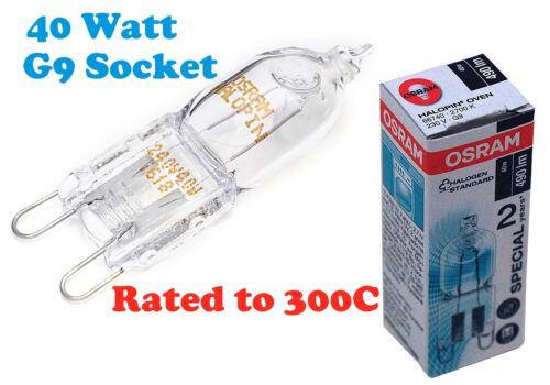 Samsung OSRAM pour cuisinière four ampoule de lampe G9 Socket 40 W 300 º C