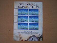 B.I.O.T. 2009 SEAFARING 54P SHEETLET OF 6,,HMS BEAGLE,(DARWINS SHIP),CAT£16.50.