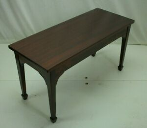 A-Merriam-Co-English-Mahogany-Wooden-Piano-Bench-South-Acton-Mass