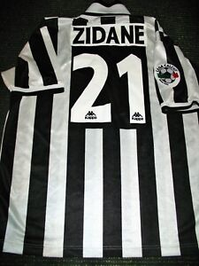 detailed look 67e0f 027f9 Details about Authentic Zidane Juventus 1996 1997 Jersey Shirt Camiseta  Maglia Real Madrid XL