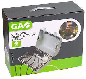 Outdoor-Sicherheitsbox-6-fach-IP64-wasserfeste-Box-Gao-Steckdosen-Safe-102084