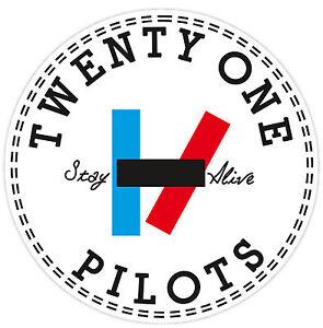 21 Pilots Twenty One Sizes Vinyl Sticker Decal Wall