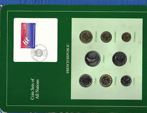 Coin-Sets-of-All-Nations-France-French-1986-1989-UNC-2-5-Francs-1989-Eiffel