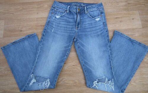 Stretch skinny blu Regular L30 strappato Jeans taglia Eagle American Donna Uk10 Pant nqIwYnaHf