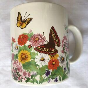 Otagiri-Coffee-Cup-Mug-Flower-Garden-Butterfly-Ceramic-Gibson-Greeting-Cards