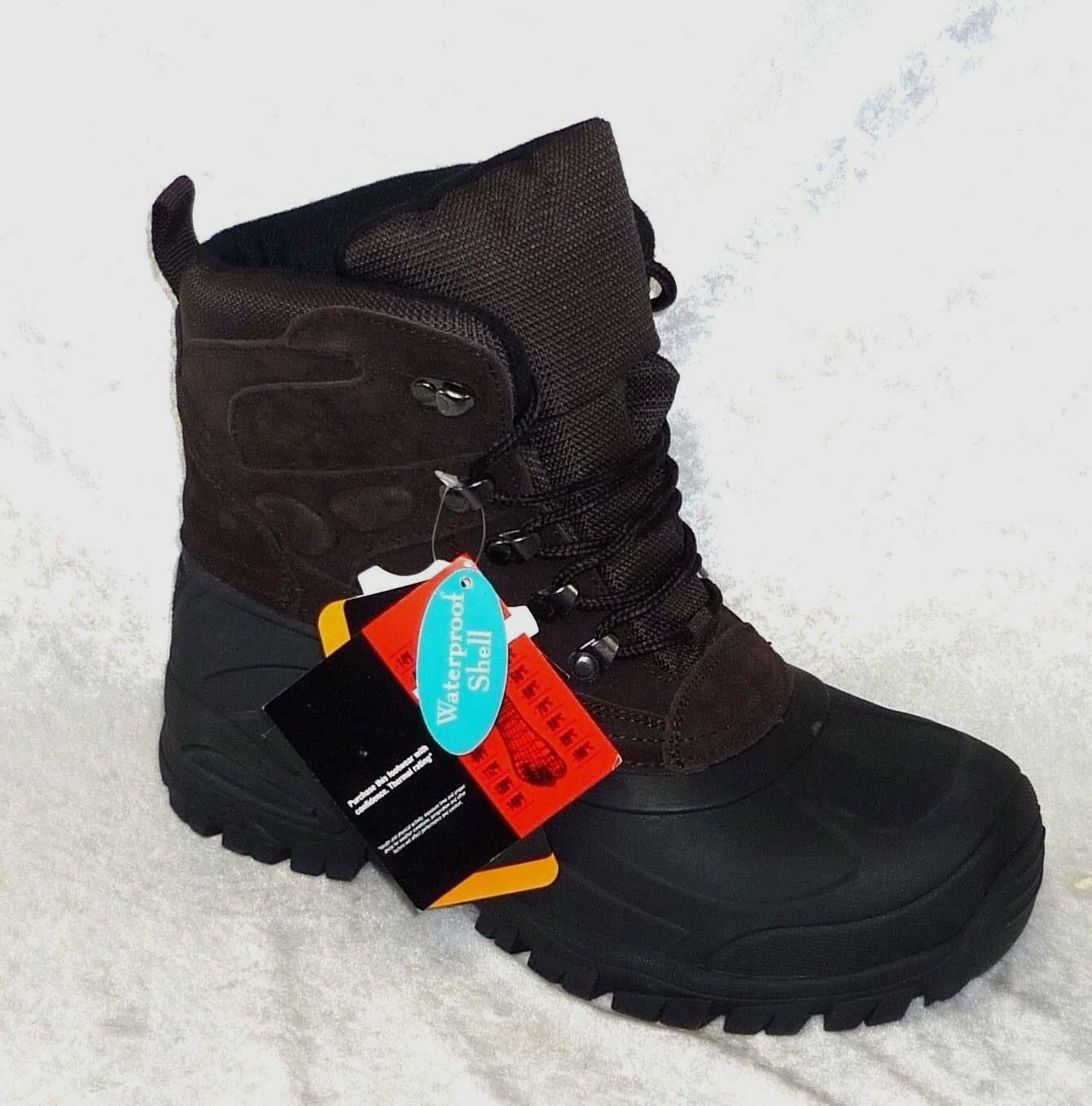 Weatherproof Thinsulate Mens Range Boots Leather size 8 9 10 10.5 NEW