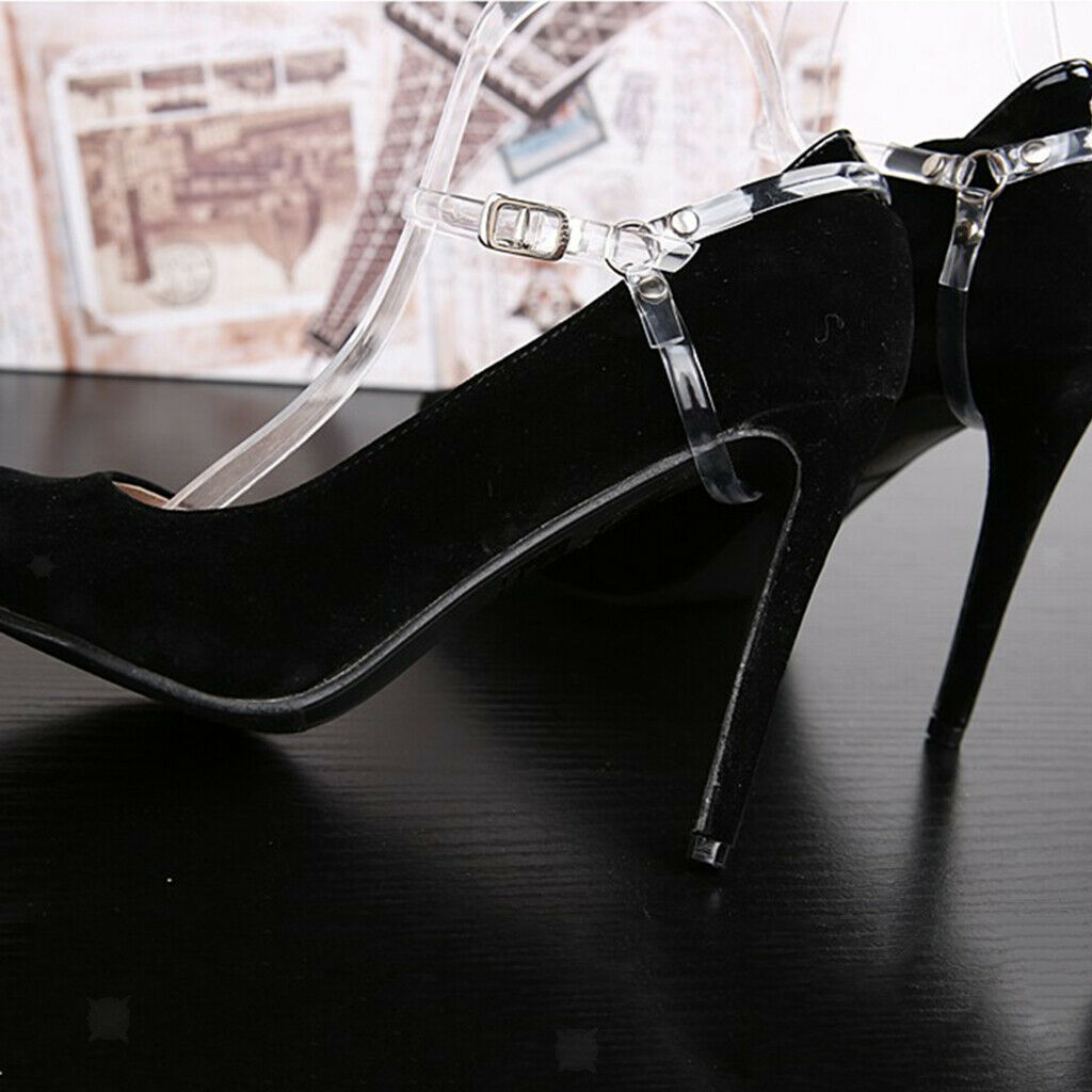Women's Detachable High Heels Anti Loose Shoelace With Buckle Transparent