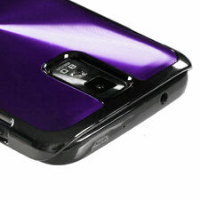 Samsung Galaxy S2 T989 (T-Mobile) Purple Acrylic Metal Aluminum Hard Case Cover