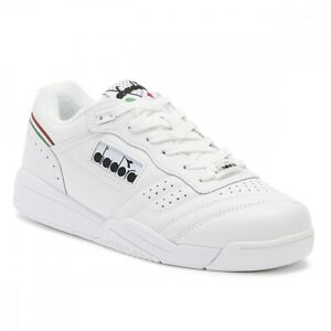 Diadora Action Mens Leather Trainers - White - UK 8 - NEW IN BOX!!