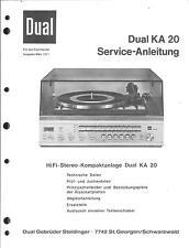Dual Service Manual für KA 20