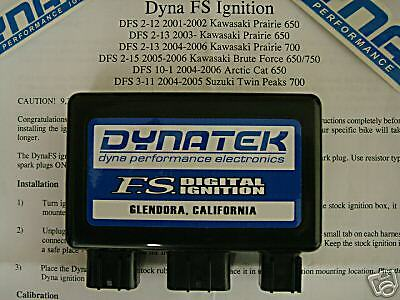 Dyna FS Dynatek Black Hi Rev Box CD ECU Ignition Brute Force 750 2005 2006 2007