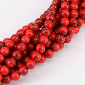 Wholesale-Natural-Red-Turquoise-Round-Spacer-Loose-Beads-4mm-6mm-8mm-10mm-12mm