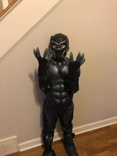 Deluxe Black Panther Costume with Gloves and minifigures,Medium