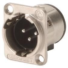 Switchcraft E3MSC 3 Pin XLR Male Panel Silver Pins