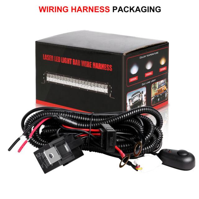 Universal Led Light Bar Wiring Harness Kit 12v 40amp Relay