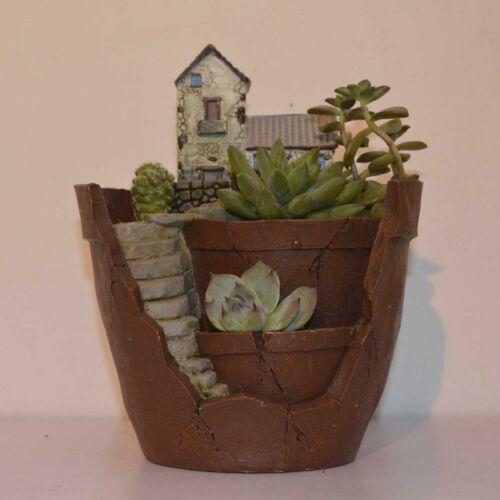 1PCS Resin Flower Pot for Succulent Plants Flowerpot Garden Decoration