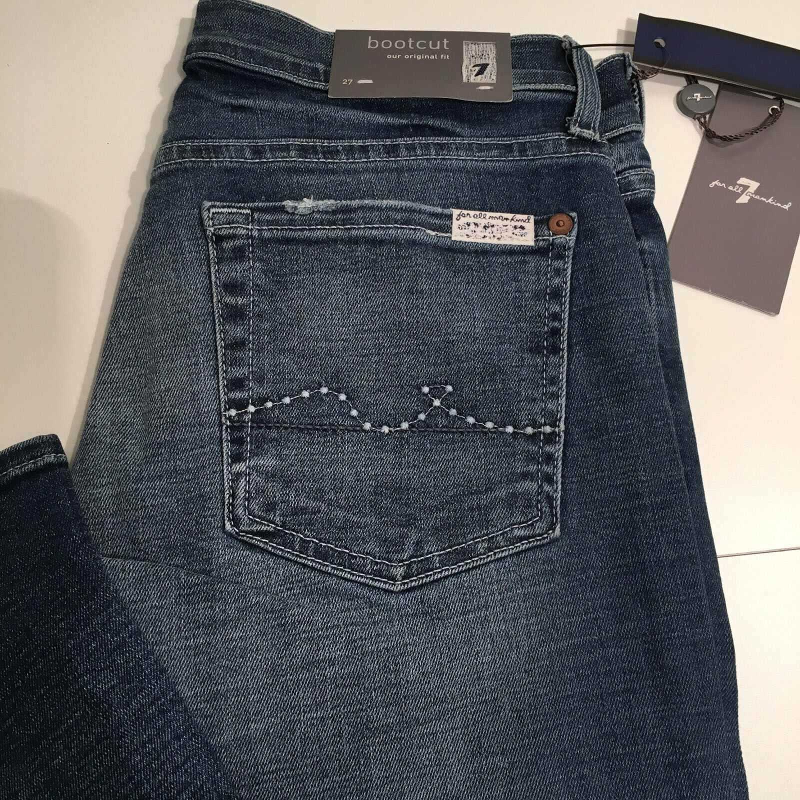 Seven 7 for All Mankind WOMEN'S Jeans blueE 27 x 35 BOOTCUT ORIGINAL FIT NEW