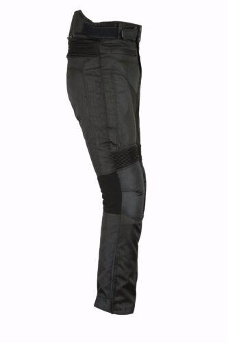 Motorrad Textilhose REISSA wasserdichte Cordura Biker hose schwarz S bis 5XL