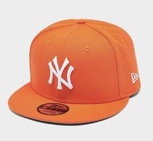 New York Yankees New Era MLB 9FIFTY Snapback Hat Cap Orange