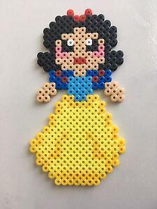 Détails Sur Pixel Art Perles A Repasser Blanche Neige De Disney Princesses