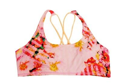 Activewear Dutiful Everlast Pink Floral Strappy Back Active Sports Bra Women's Xxl