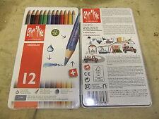 Watercolour Caran D' Ache Swisscolor 12 Colour Pencils New and Sealed