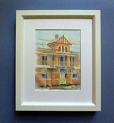 "Original Framed Watercolour ""The Riverside Hotel"" Northam, Western Australia."