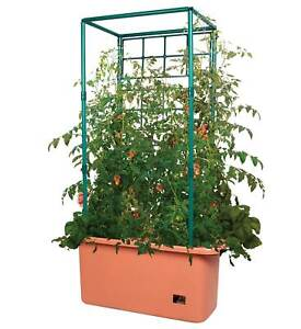 Hydrofarm 10Gal Self Watering Tomato Trellis Garden Grow System on Wheels (Used)