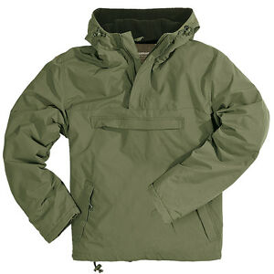 WINDBREAKER HOODED MENS WIND RAIN JACKET WITH WARM FLEECE SURPLUS ...