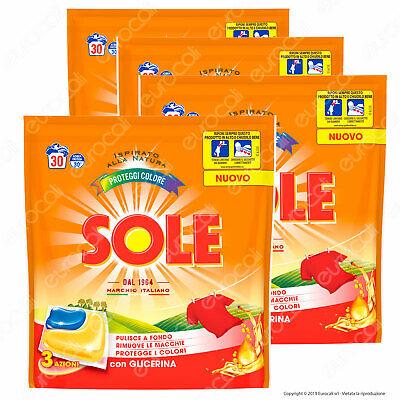 Sole Perle Proteggicolore Detersivo Lavatrice in Capsule Gel Monodose 6 x 26pz