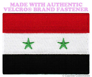 """World Flag Small Flag of Syria Iron On Patch 2.5/"""" x 1.5/"""" inch Free Shipping"""