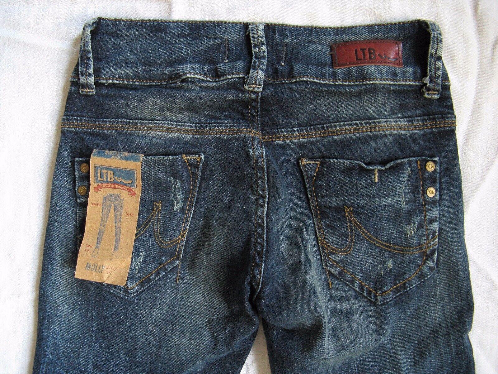 LTB Molly Donna Donna Donna blu Jeans w24 l32 STRETCH tubo Low Waist SUPER SLIM FIT TUBE 12417d