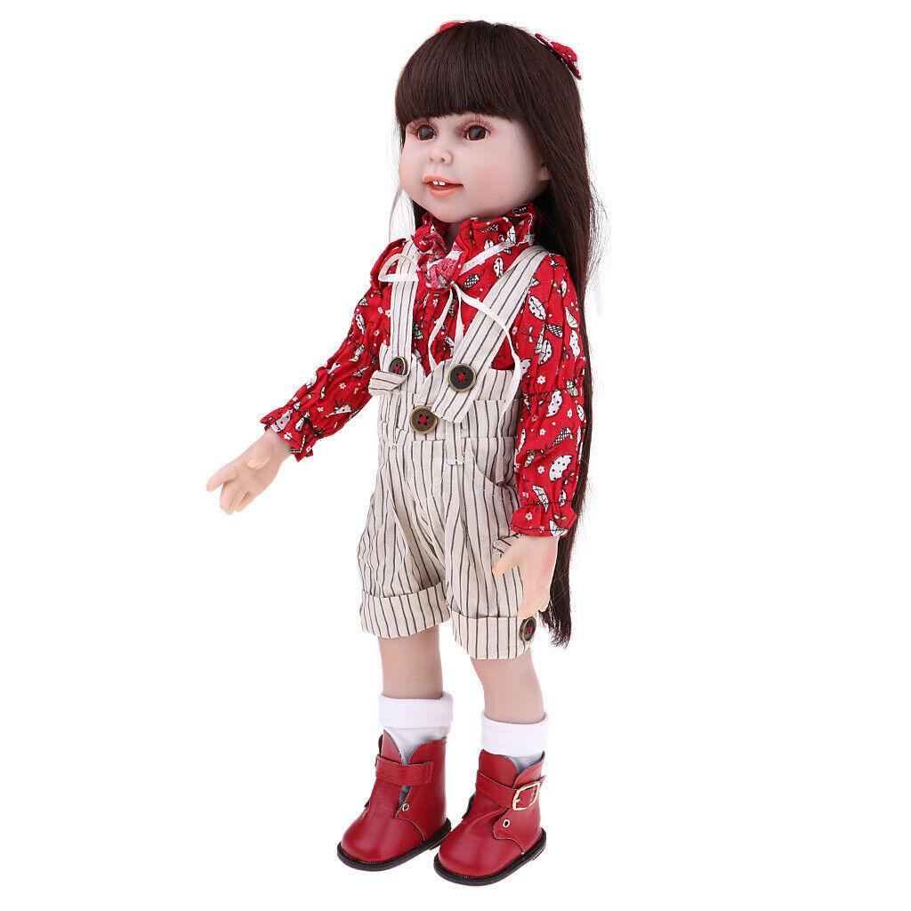 18 '' Body Silikon Mädchen Puppe Lebensechte Puppen in Kleidung Kinder