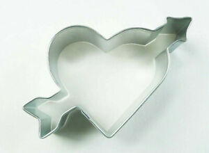 Heart with Arrow Cookie Cutter Valentines Day Love