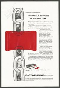 DICTAPHONE-Dictabelt-supplies-the-missing-link-1956-Vintage-Print-Ad