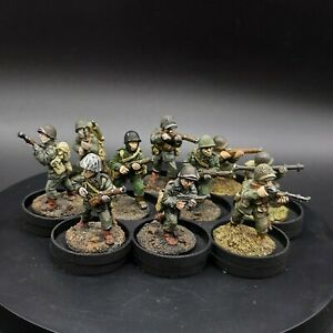 Dipinto-28mm-BOLT-ACTION-ci-FANTERIA-INVERNALE-10-SQUADRA-3-Old-BOLT-ACTION-getta