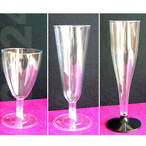 Einweg-Sektglaeser-Sektfloeten-Weinglaeser-Sektglas-Weinglas-Plastik-Kunststoff