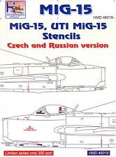 H-Models Decals 1/48 MIKOYAN MiG-15 & MiG-15 UTI STENCILS