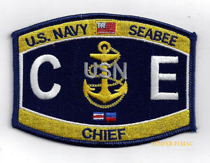US NAVY USN SEABEES CAN DO FLAG PATCH SEABEE OFFICER CHIEF SAILOR USS WOW LOOK
