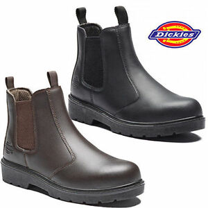 MENS DICKIES LIGHTWEIGHT DEALER CHELSEA STEEL TOE CAP SAFETY WORK BOOTS SHOES SZ