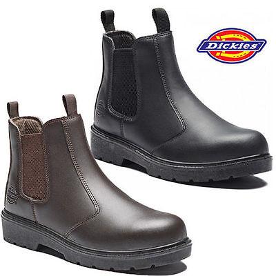 Mens Dickies Dealer Lightweight Chelsea Steel Toe Cap Safety Boots Work Shoes Sz Ebay