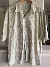 Mens Cutter & Buck Button Down Short Sleeve Hawaiin Shirt XL The Plantation