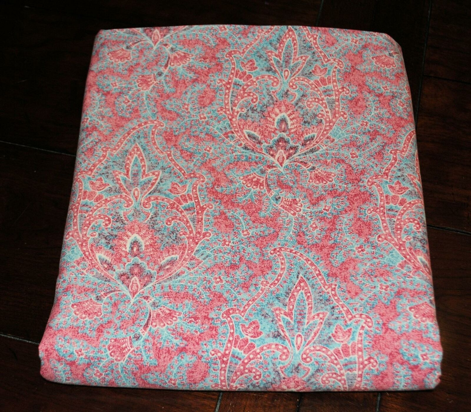 Ralph Lauren Meredith Twin Flat Bed Sheet Paisley Red bluee HTF Venice Beach
