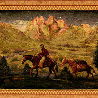Upholstery Fabric High Drifter Cabin Rustic Horse Cowboy Mountain Log Furniture