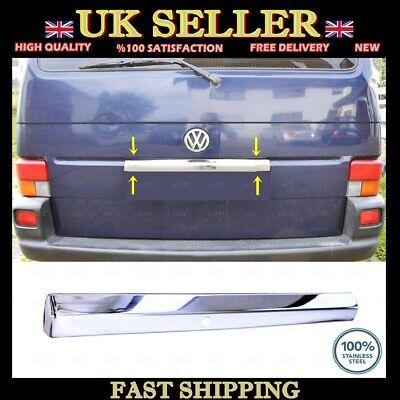Stainless Steel Chrome Rear Trunk Tailgate Lid Cover TRANSPORTER//CARAVELLE//MULTIVAN T4 Single Rear Door